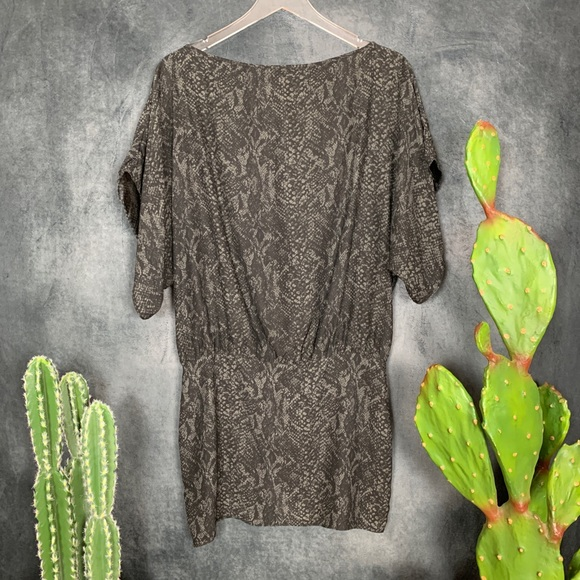 Parker Dresses & Skirts - 🌵Parker Silk Black Gray Sexy Open Back Mini Dress